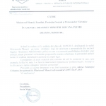adresa columna catre ministerul muncii 23 septembrie