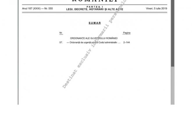 OUG 57/2019 Codul Administrativ