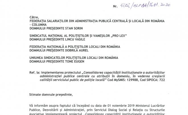 Proiect desfăşurat de MLPDA, privind modificarea legislaţiei poliţiei locale